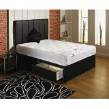 Divan bed with Mattress and headboard and 2 drawers - Double 4'6